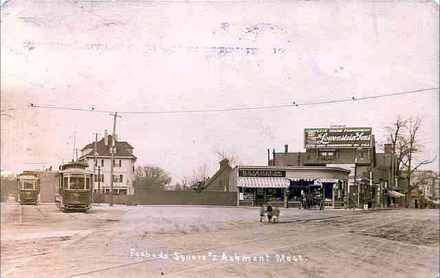 Peabody Square, Ashmont, Mass. Real photo ca. 1910-13.