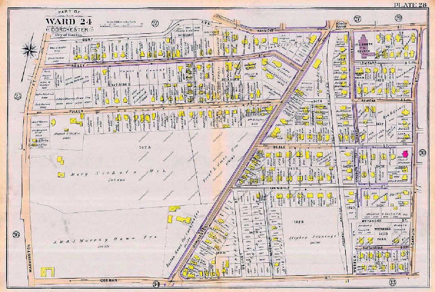 Dorchester 1894 map - Ashmont South
