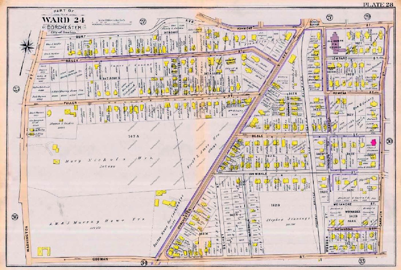 Dorchester 1910 map - Ashmont South